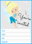 Blue fairy invitation example