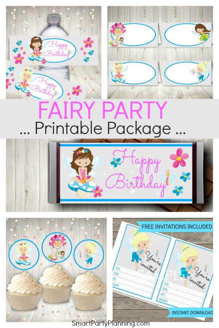 Fairy Party Invitations Free Printable Milano Danapardaz