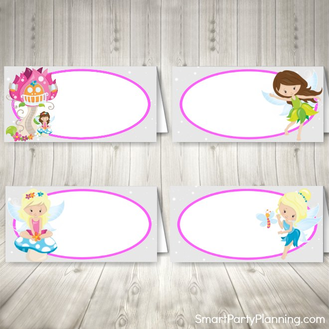 Pink fairy food labels