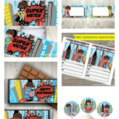 Awesome Superhero Party Printables With Free Invitations