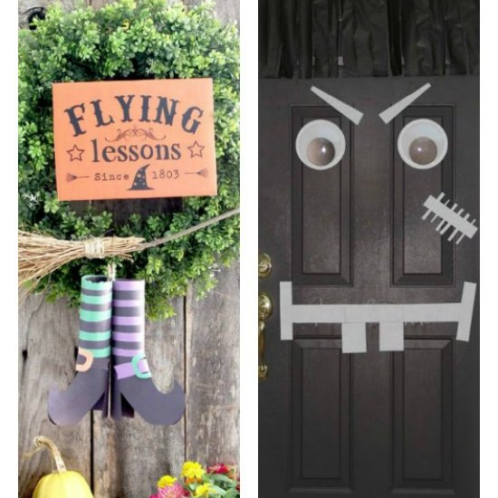 14 easy Halloween front door ideas