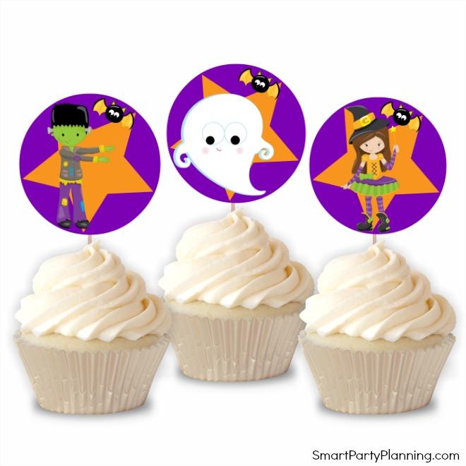 Cute Halloween cupcake toppers