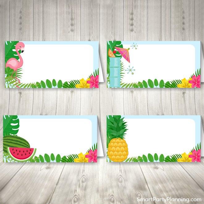 Tropical Food Tent Labels