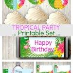 Tropical Party Printables Set