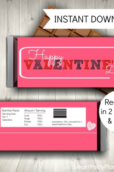Valentines Candy Wrappers design 2