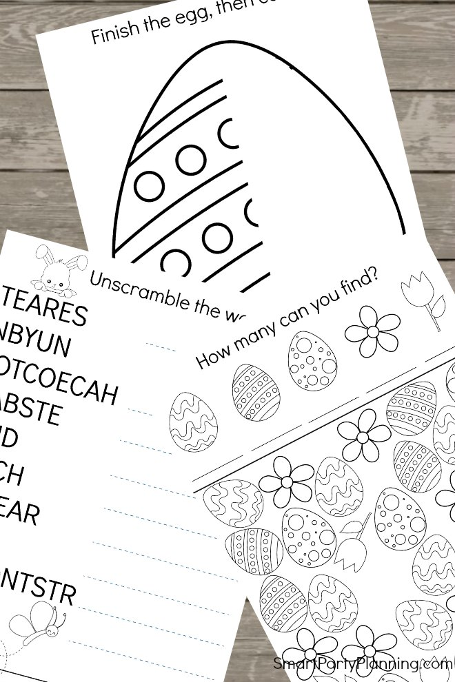 Fun Easter Worksheets For Kids