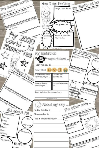 Social isolation memory pack worksheets