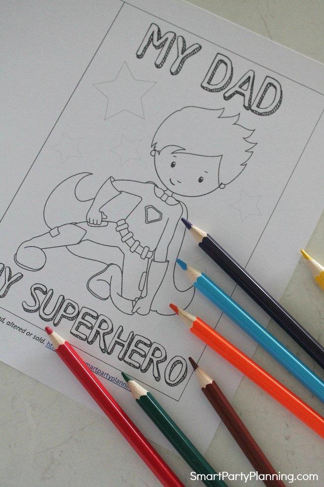 Free Printable Superhero Card For Dad