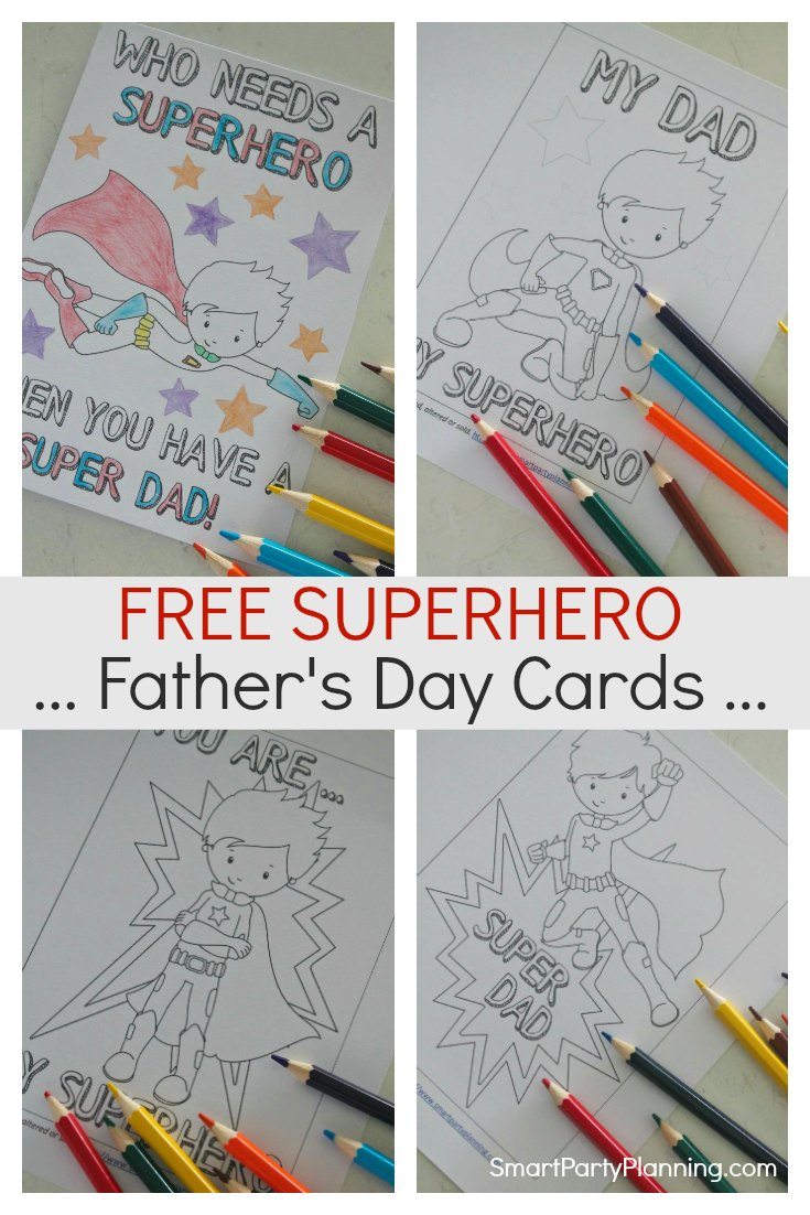 Free Superhero Fathers Day Cards