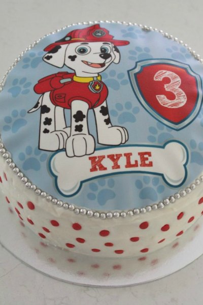 Simple Marshall Paw Patrol Cake