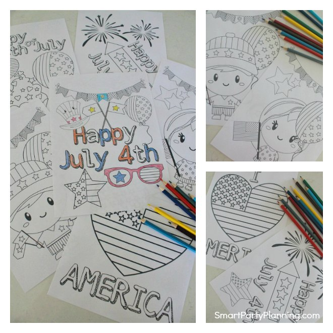 Fun 4th of July coloring pages for kids