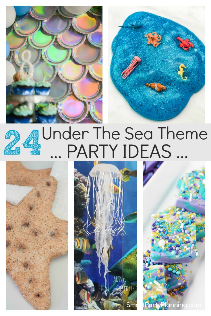 24 under the sea theme party ideas