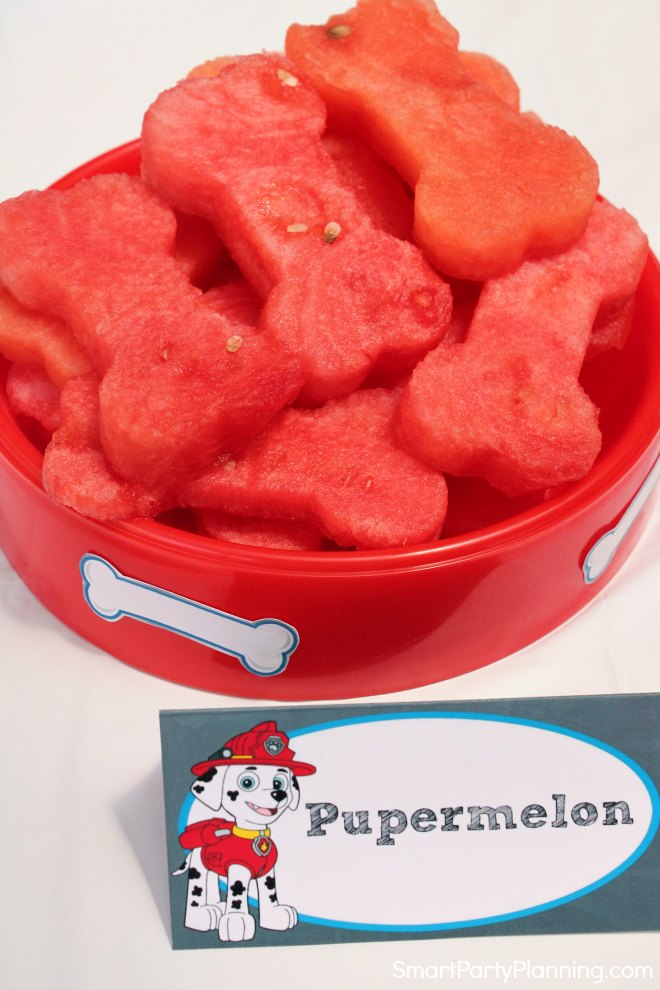 Bone shaped watermelon