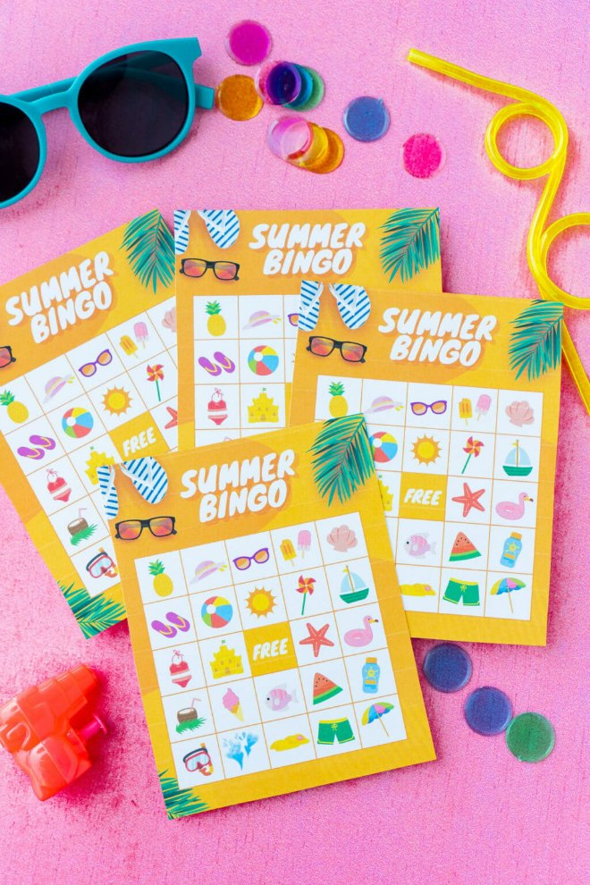 Summer bingo cards