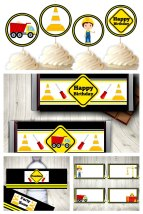 Construction Party Printable Set