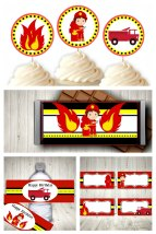 Fireman Party Printable Set