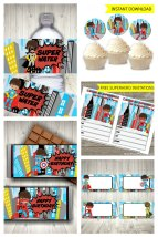Superhero Party Printable Set