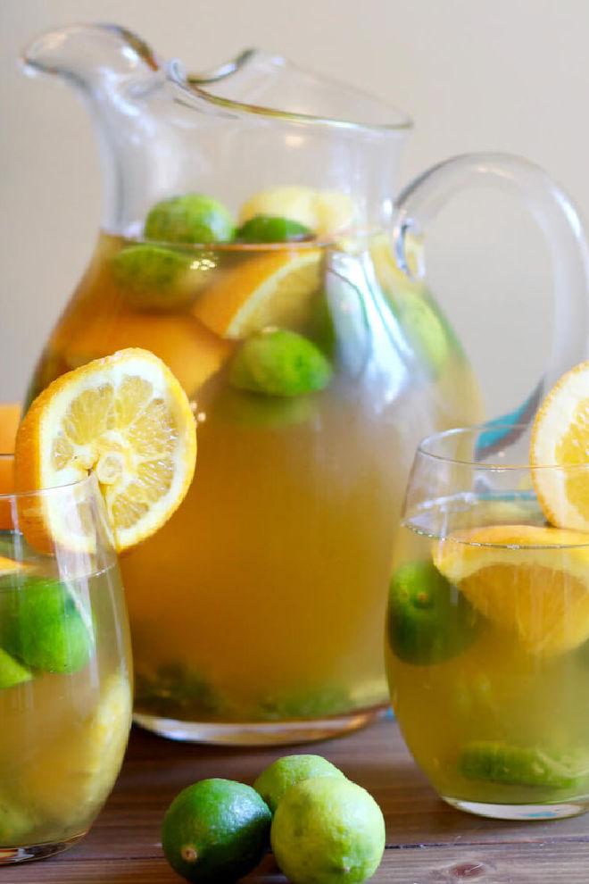 white green tea sangria