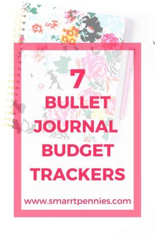 7 bullet journal budget tracker