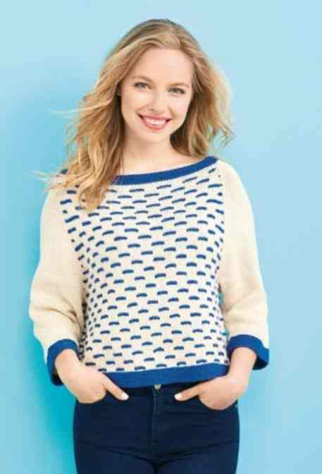 free nautical sweater knitting pattern