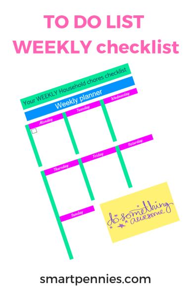 If you need a little help with your weekly planning how about grabbing this Printable To Do list checklist which will help get you more organized with your week!