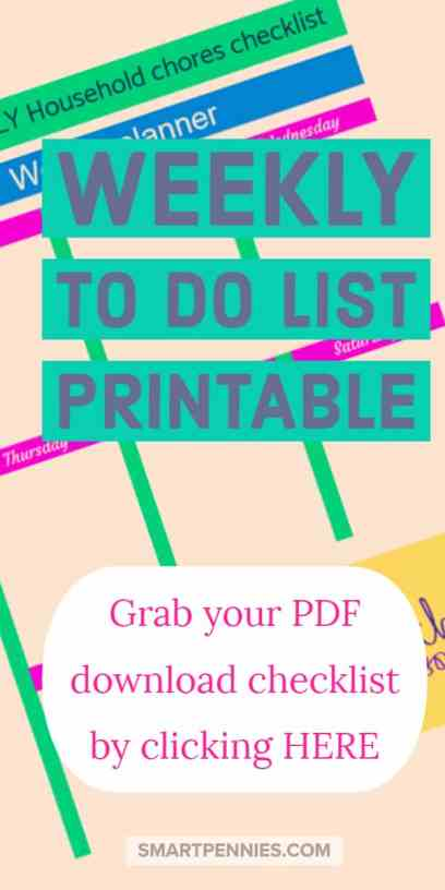 Fancy Grabbing a free TO DO list template checklist to help you get organized for your weekly household chores.