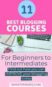 11 of the best beginners courses you can take to improve your blogging today. From spending under $50 to under a $500 dollars find out which course you would benefit from today.