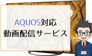 AQUOS対応 動画配信サービス