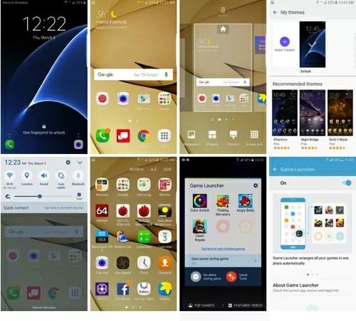 Galaxy S7 edgeのUI