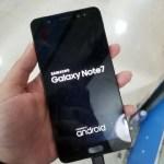 Galaxy Note7の非エッジスクリーン実機画像