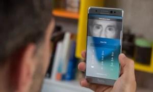 Galaxy Note7の虹彩認証機能