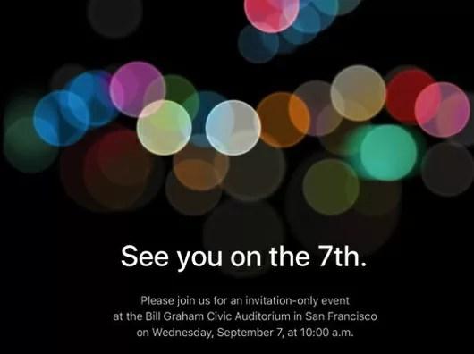 Appleが9月7日にイベントにてiPhone7を発表!