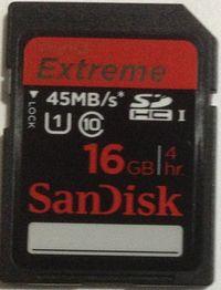Sandisk 16GB Class10