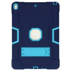 iPad Air (2019) 10.5 inch donkerblauw - lichtblauwe Shockproof Case achter