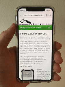iphone x hülle test