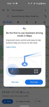 Google Maps Assistant Driving Mode