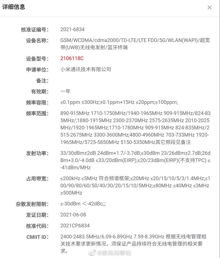 Xiaomi Under-Display-Kamera UWB