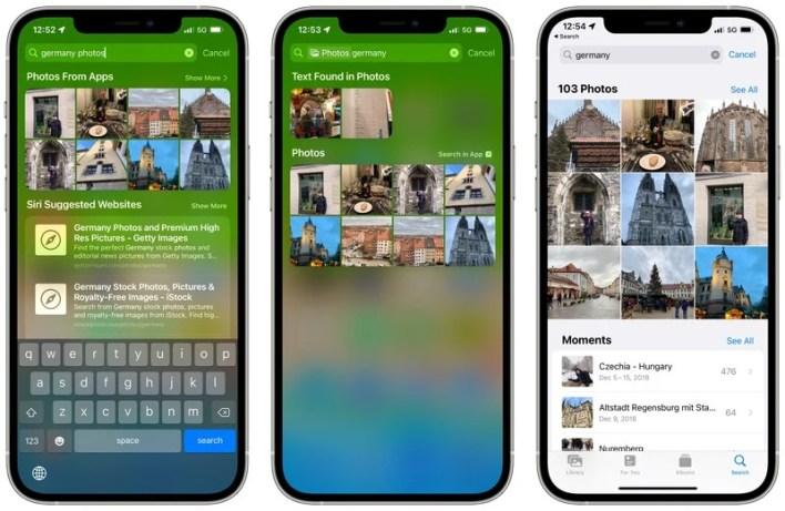 Apple iOS 15 Spotlight Fotosuche