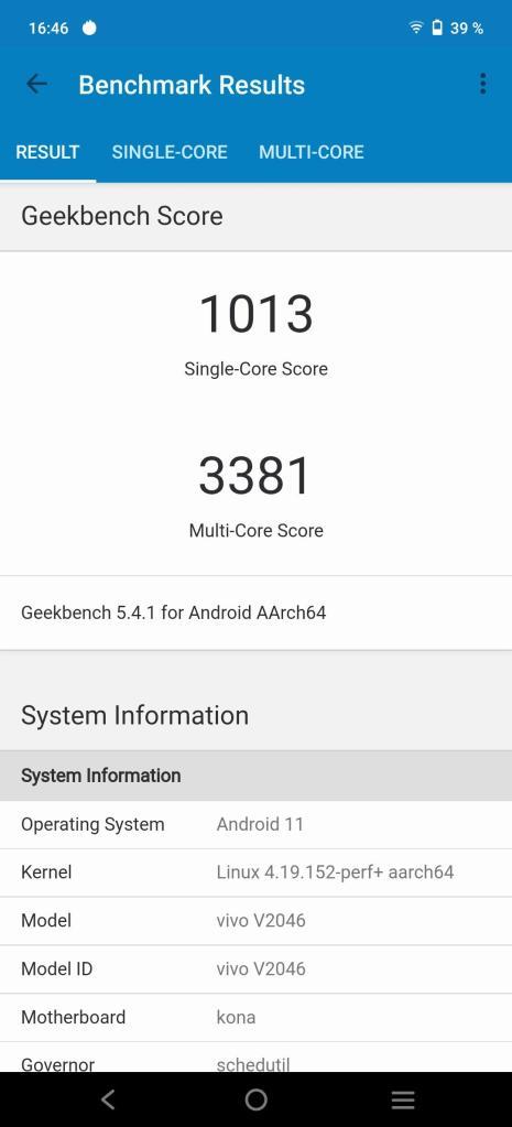 Vivo X60 Pro 5G Geekbench Ultra-Spielmodus