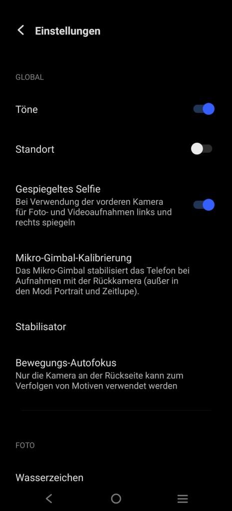 Vivo X60 Pro 5G Kamera-App