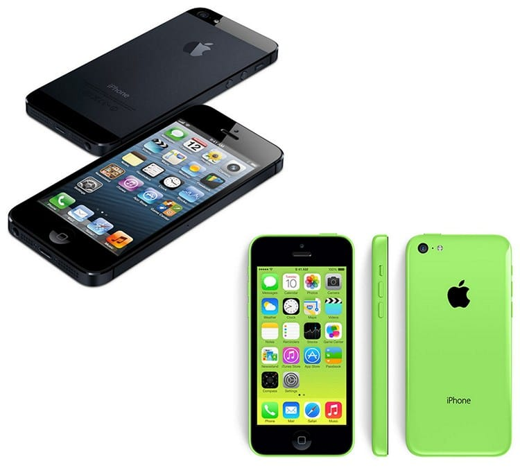 IPhone 5c түстері.