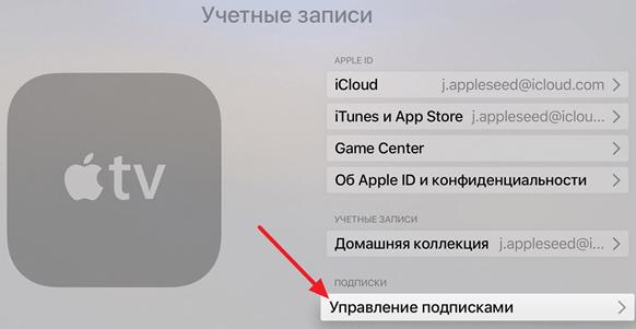 Abonnementshåndtering i Apple TV