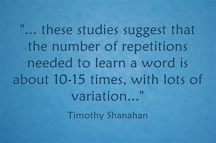 learning a new word through repetition