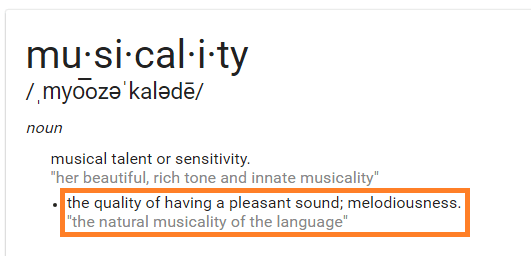 musicality definition