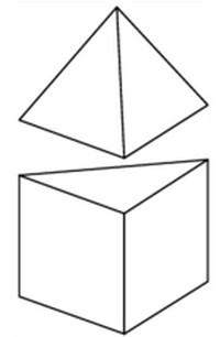 с ребром 1, основания, пирамида, призма, грань, ребро