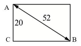 Задача 8 (№ 1580) - Диагональ прямоугольного телевизионного экрана равна 52 дюйма