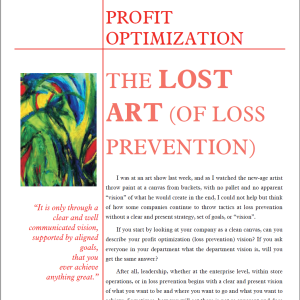 Lost Art of Loss Prevention White Paper Graphic