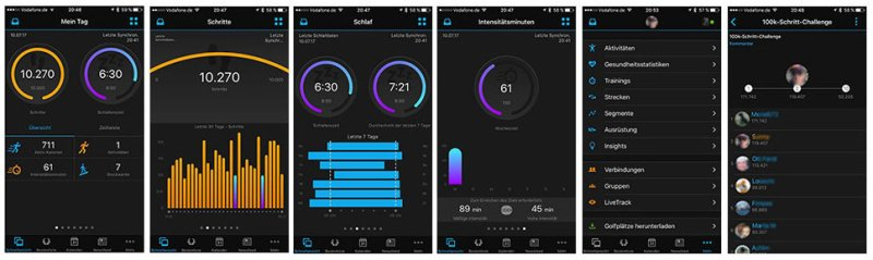 Garmin Connect vivoactiv HR - Bild: Garmin / Smartscout