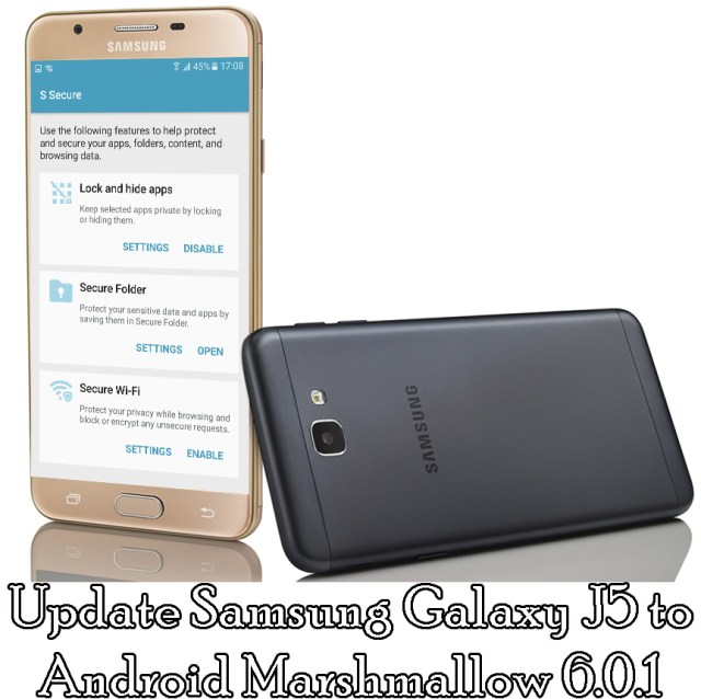 Update Samsung Galaxy J5 Marshmallow 6.0.1