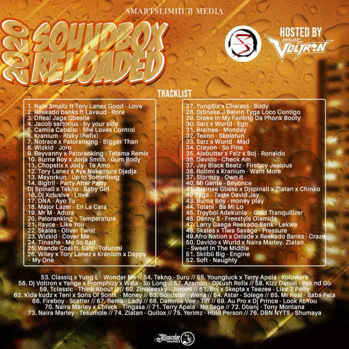 "[Mixtape] Smartslimhub Media x DJ Voltron – ""SoundBox Reloaded"""